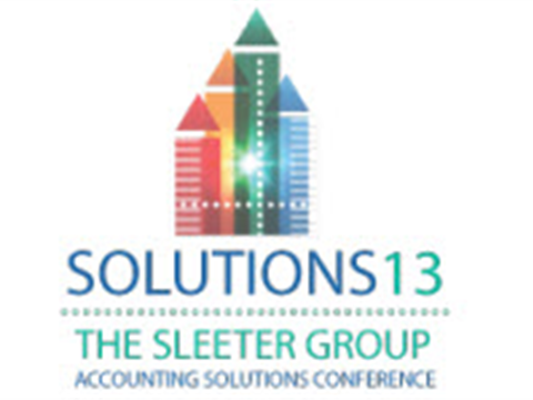 The Sleeter Group Accounting Solutions Conference 2013