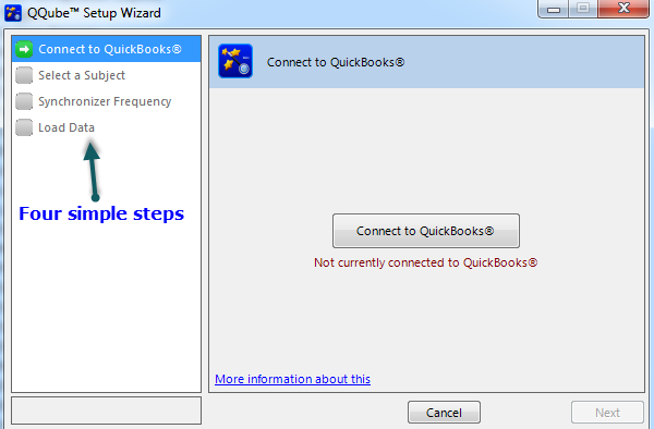 QQube Version 5 Configuration Wizard