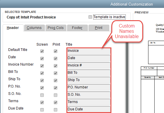 QuickBooks Fields Not Available in QQube - Custom Form Aliases