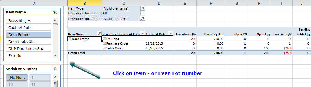 QQube Version 5 Inventory Forecasting
