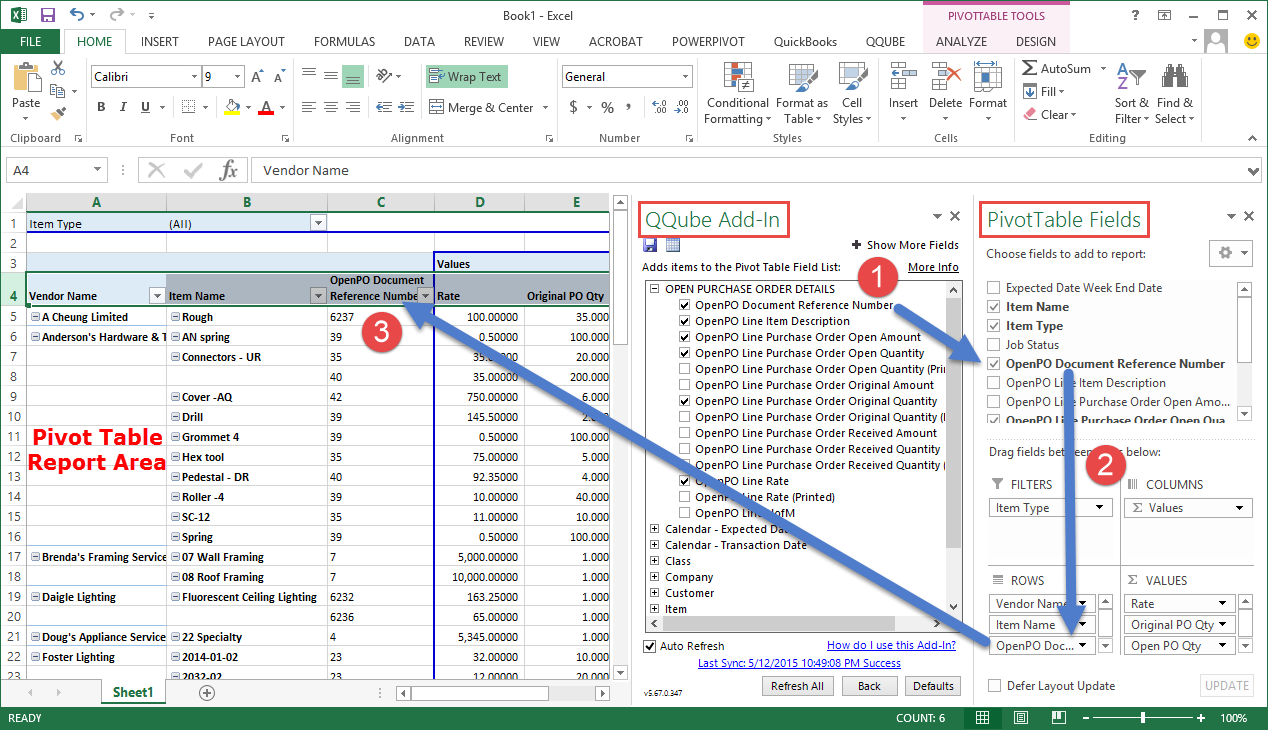 Getting Started With A Qqube Pivot Table Report  Example