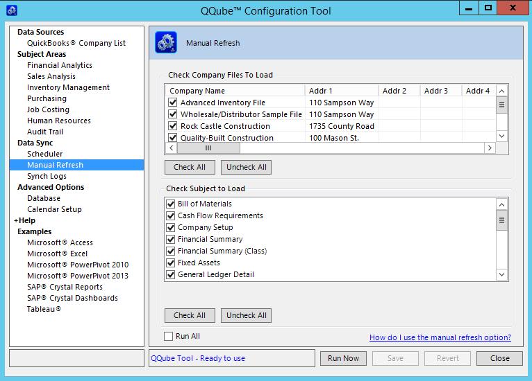 QQube Configuration Tool Open