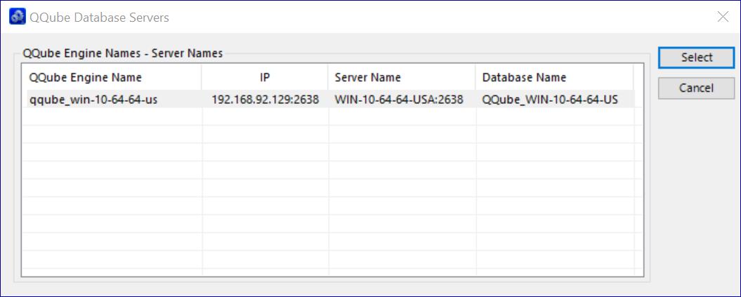QQube Database Found