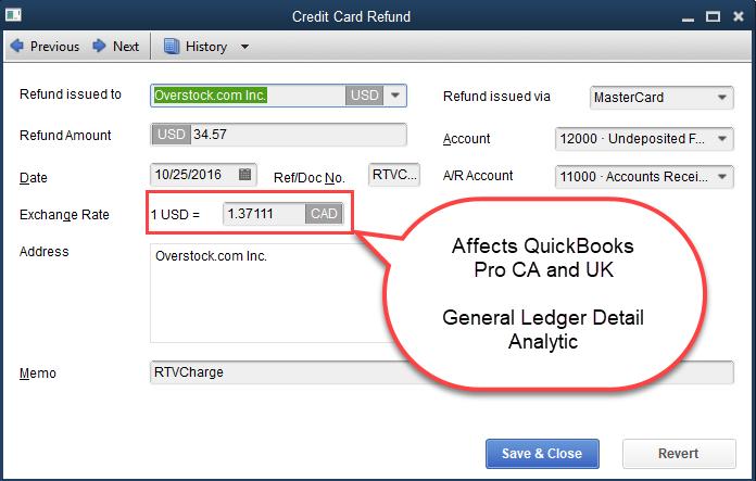Credit Card Refund