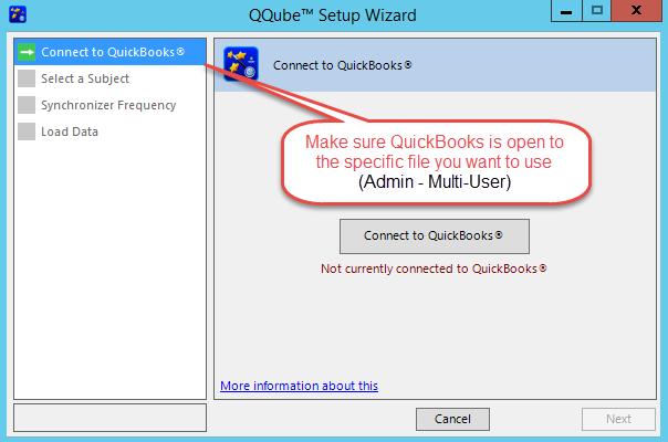 QQube Configuration Wizard