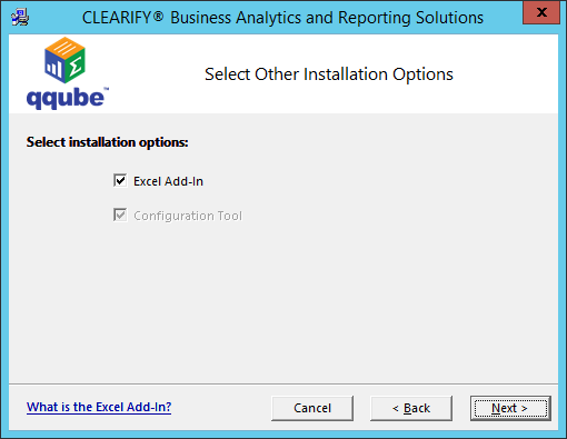 QQube for QuickBooks Installation - Single User Excel Tool Option