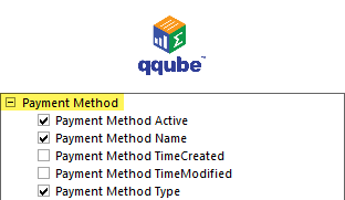 QQube DIMENSION - Payment Method
