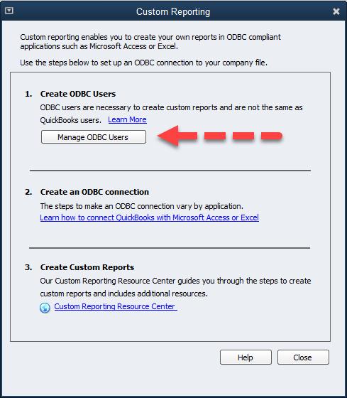 QQube Configuration - Changing Custom Report User Password Step 2