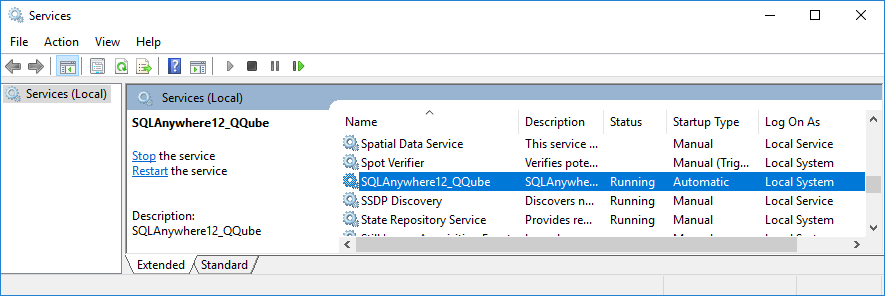 SQL Anywhere Service