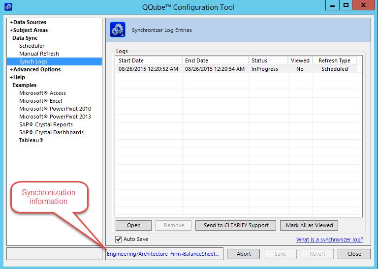 QQube Configuration Tool - Loading Data