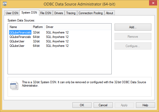 QQube Installed Components - DSN