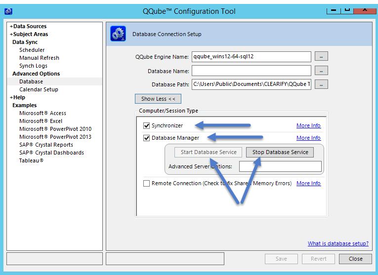QQube Configuration Tool Server Setup