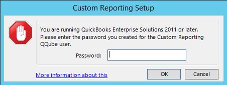QQube Configuration Tool - Custom Reporting User Password