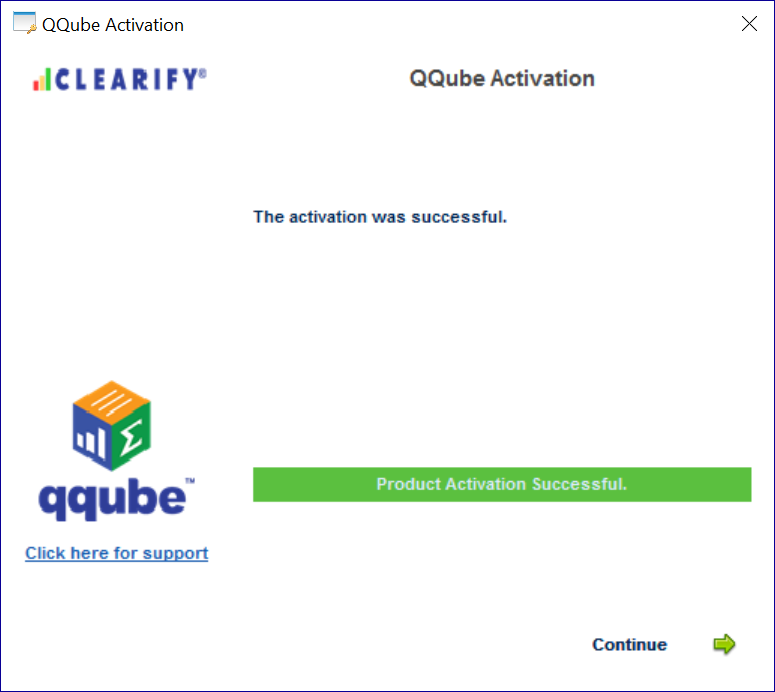 Successful QQube Activation