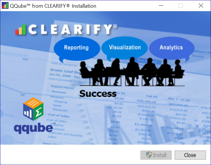QQube Installer Finish Screen
