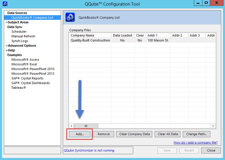 QQube Configuration Tool - Add Additional Company