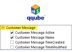 QQube DIMENSION - Customer Message