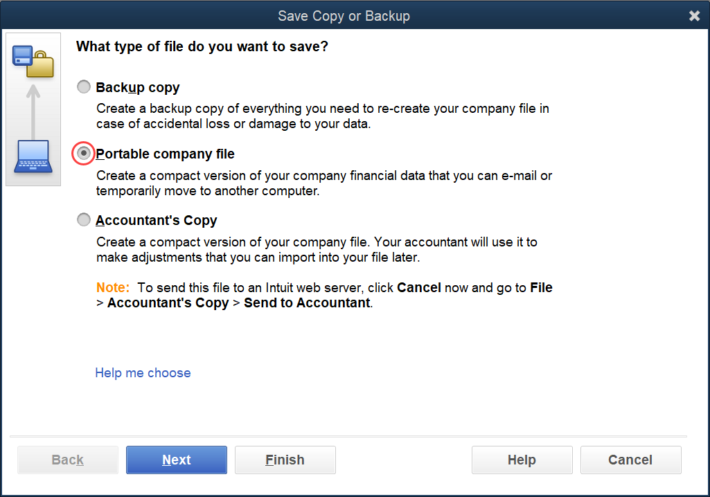 QuickBooks Portable Company File