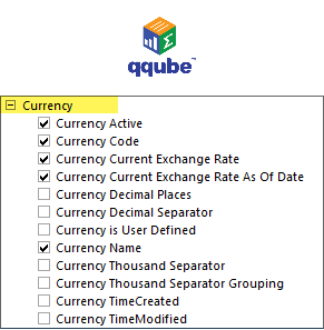 QQube DIMENSION - Currency