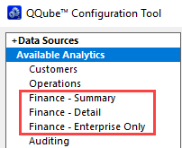 New QQube Financial Analytics Layout