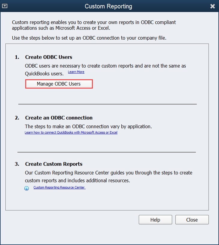 QQube Configuration - Create Custom Report User Step 2