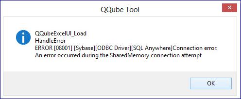 QQube SharedMemory Error