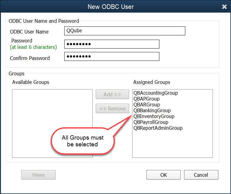 QQube Configuration - Create Custom Report User Step 4