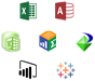 250 QQube Examples for Excel, PowerPivot, PowerBI, Access, Crystal, Tableau