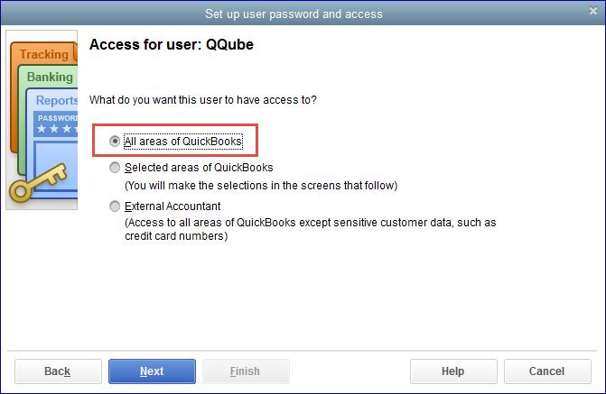 QuickBooks Pro/Premiere Setup Users Step 2