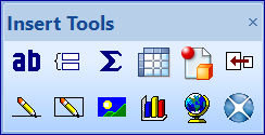 Crystal Report Toolbars - Insert