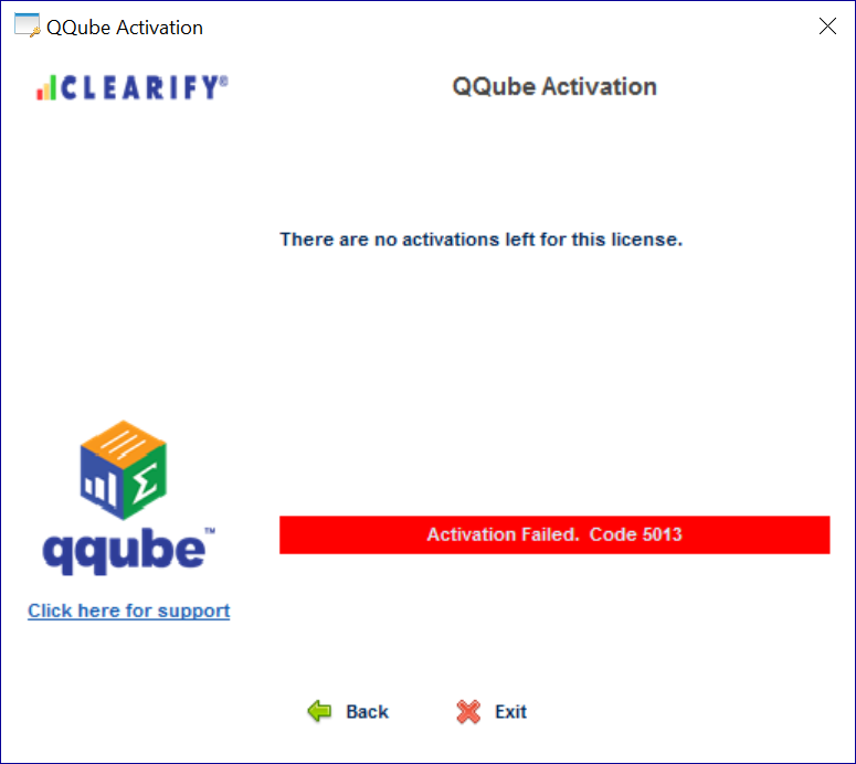 QQube Failed Activation