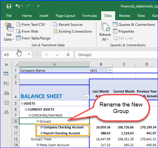 Resulting New Group in a Pivot Table