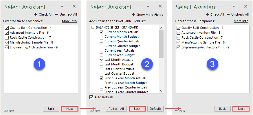 Multiple Companies using Select Assistant