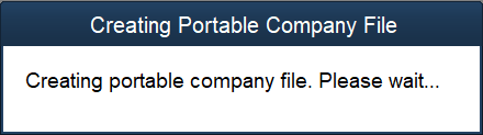 Portable File Being Created
