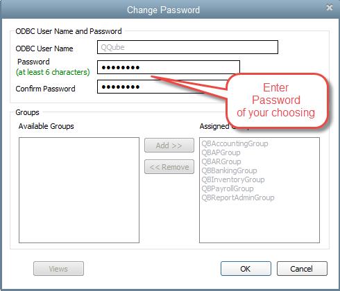 QQube Configuration - Changing Custom Report User Password Step 4