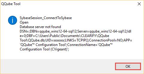 Cannot Find QQube Server